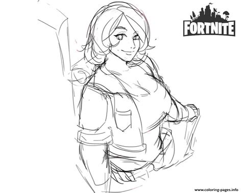 fortnite brienne fanart  shantftw coloring pages printable