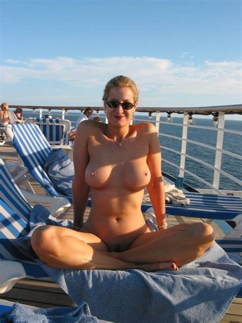 Beautiful Naked Mom On A Boat