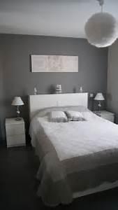 deco chambre adulte gris et blanc With deco chambre gris blanc