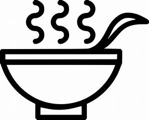 Drink Healthy Hot Soup Bowl Spoon Svg Png Icon Free ...
