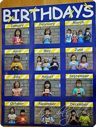 Free Printable Classroom Birthday Charts