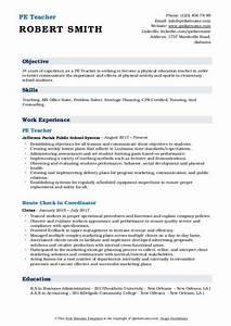 Resume Objective For Teaching Pe Teacher Resume Samples Qwikresume
