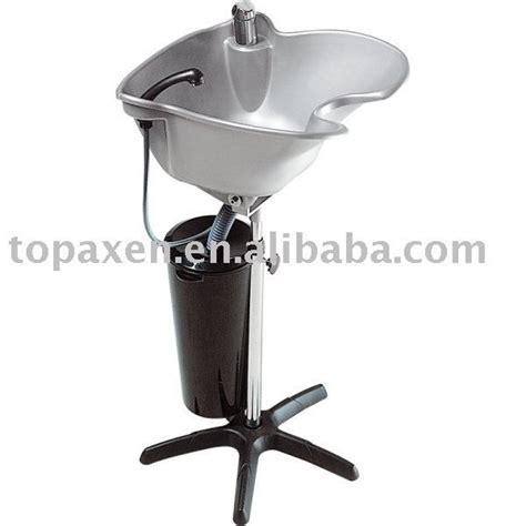 grey portable height adjustable shoo basin hair
