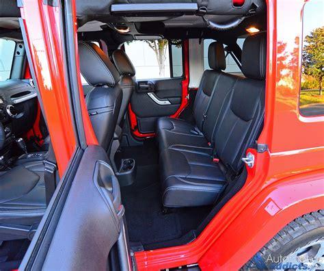 jeep wrangler backseat 2016 jeep wrangler sahara unlimited review test drive