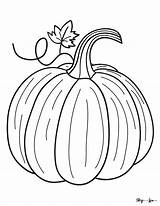 Pumpkin Coloring Realistic Skip Lou sketch template