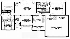 4 bedroom modular floor plans 4 bedroom one story house for Simple house plan with 4 bedrooms