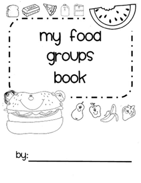 food and nutrition theme preschool songs and printables 653 | nutrition book pic