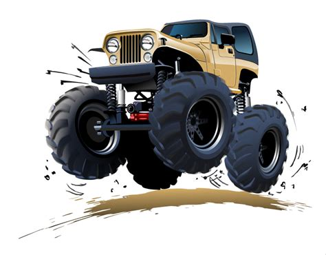 monster trucks races cartoon cartoon monster truck vector free vector graphic download
