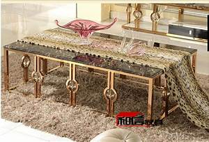 Table Basse Rose Gold : after the rose gold stainless steel coffee table end table simple marble ktv metal furniture ~ Teatrodelosmanantiales.com Idées de Décoration