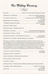 spanish wedding program examples catholic wedding program With wedding ceremony music order