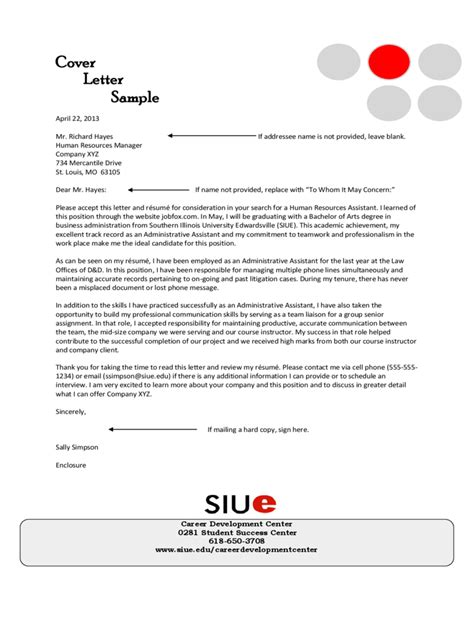 Exle Of A Cover Letter For Assistant Administrative Assistant Cover Letter Exles 3 Free