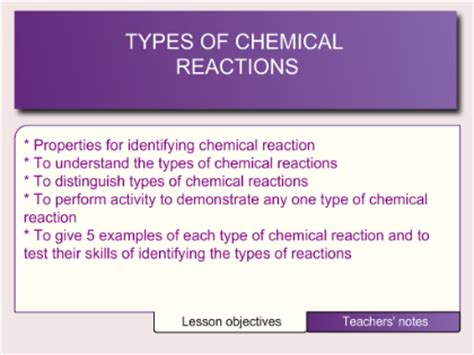 Smart Exchange  Usa  Types Of Chemical Reactions