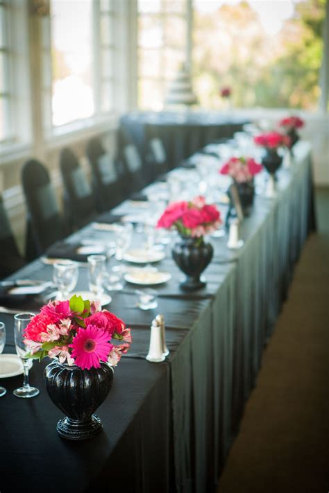 pink daisy  tiger lily centerpieces