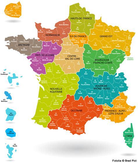 Nouvelle Carte De Region Et Departement by Carte De Avec D 233 Partements