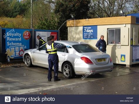 Hand Car Wash Cleaning An Expensive Car In A Tesco