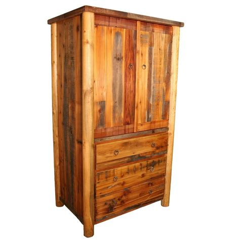 Armoire Furniture by Custom Western Armoire Country Rustic Cabin Log Wood