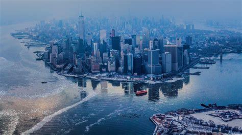 Aerial View Of Manhattan, New York City 4k Hd Desktop Wallpaper For 4k Ultra Hd Tv • Wide