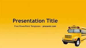 Free School Bus Powerpoint Template