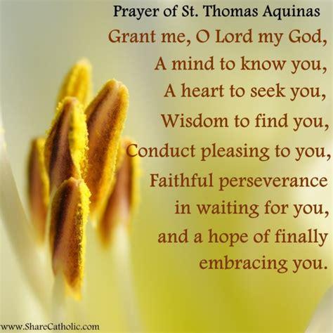 prayer  st thomas aquinas