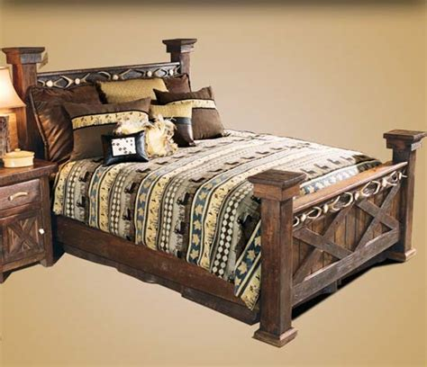 barnwood bed  antler accent western passion