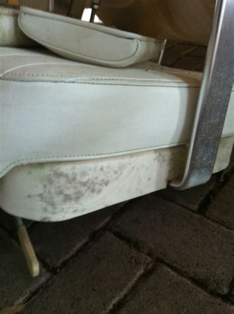 Best Mildew Cleaner For Boat Seats by Black Spots On Boat Seat Plastic How To Clean The