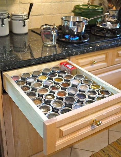 Spice Rack In Drawer by 65 Ingenious Kitchen Organization Tips And Storage Ideas