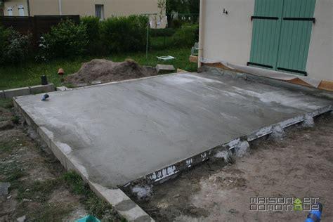 couler une dalle beton interieur ordinaire couler une dalle beton exterieur 3 les travaux de la terrasse se poursuivent maison