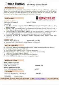 2017 Elementary Teacher Resume Examples