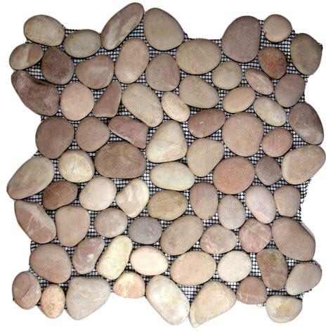 berry pebble tile 12 quot x 12 quot river rock tile ebay