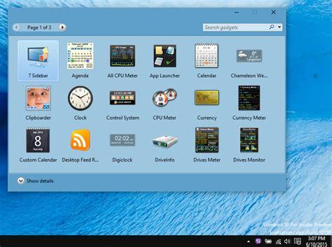 gadget de bureau windows 7 gratuit gadget windows 10 images
