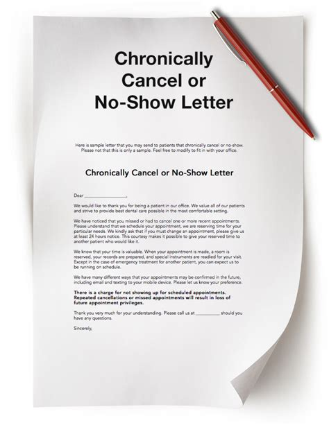 no call no show letter dental practice resources free dental resources the
