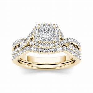 1 ct tw diamond 14k yellow gold bridal ring set jcpenney With jc penny wedding rings