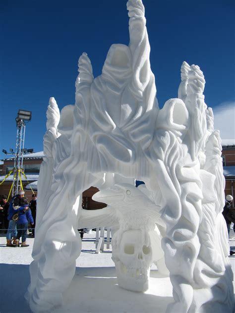 snow sculptures breckenridge colorado january