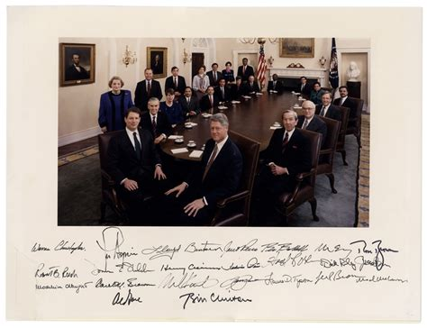 federico of the clinton cabinet lot detail bill clinton signed 20 x 15 photograph of
