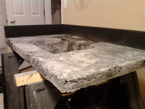 cement countertop mix concrete countertop series 8 molds removed top surface