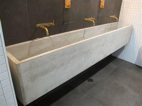 concrete trough sink gray concrete sink with faucet on the black