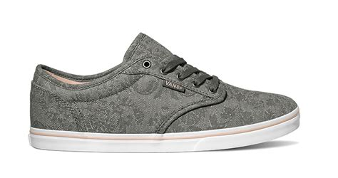 Womens Vans Atwood Low Canvas Print Gray