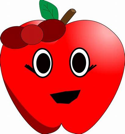 Apple Smiling Clipart Eyes Smile Talking Clip