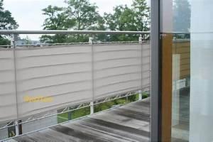 Toile Pour Terrasse : brise vue en toile pour balcons couleur gris clair 65x300 ~ Premium-room.com Idées de Décoration