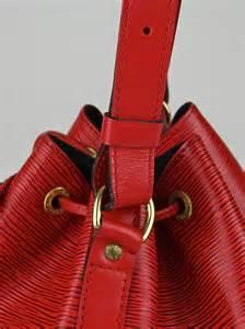 louis vuitton red epi leather petit noe bag handbags