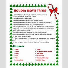 Holiday Movie Triviawith Answers  History  Trivia  Pinterest  Movie Trivia, Holiday