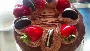 Decoracion de pastel / chocolate / fresas / oreos - YouTube