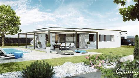 pergola maison contemporaine 224 toit plat avec pergola