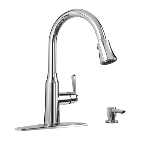 standard kitchen faucet shop standard soltura polished chrome 1 handle