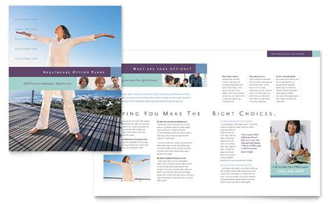 medical insurance company brochure template design