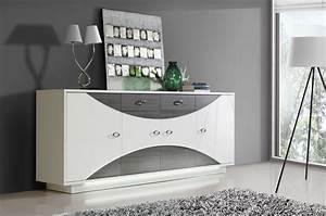 Sideboard Badezimmer Weiß : sideboard weiss hochglanz eiche grau mit beleuchtung woody 77 00993 ebay ~ Markanthonyermac.com Haus und Dekorationen