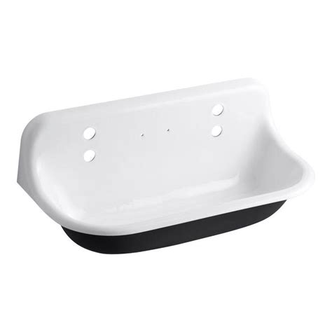 kohler brockway sink single kohler brockway 17 5 in x 36 in cast iron wall mount