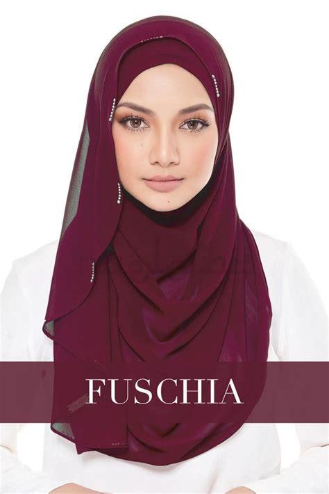 pin oleh marwa  naelofar hijab kerudung gaun payet