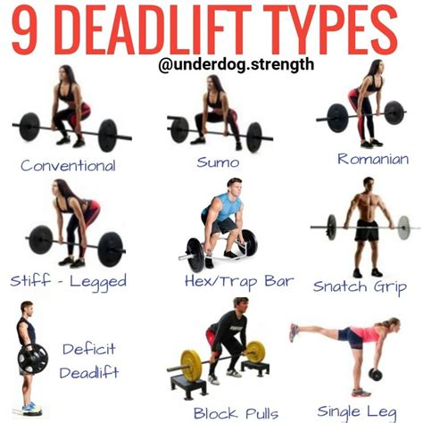 deadlift bar variations training types strength exercises beginners muscles worked weight workout workouts leg deadlifts dead hex romanian lifts exercise