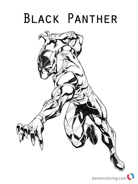 black panther coloring book black panther coloring pages marvel free